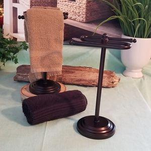 Bronze Towel Rack Stand